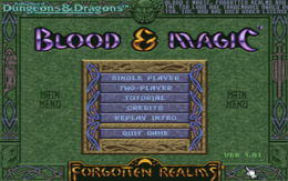 <p>Blood and Magic 1.01 Title Screen</p>